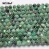 Meihan (1 가닥/세트) 천연 4.2mm Emerald 드면 처리 된 둥근 구슬 보석 만들기 디자인