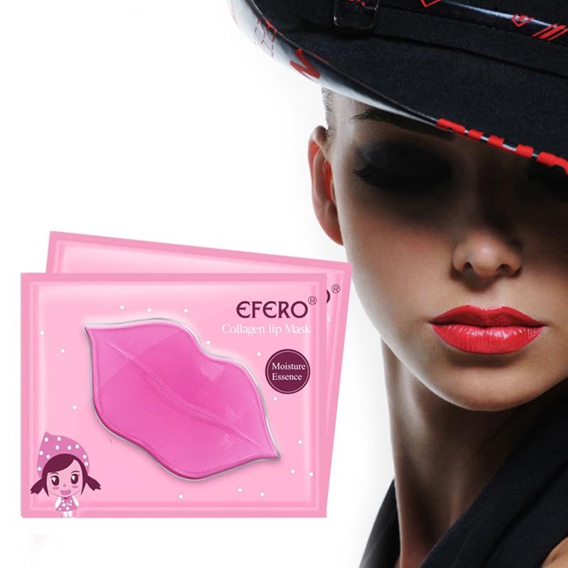 EFERO 20pc Lip Plumper Kristall Kollagen Lip Mask Pads Feuchtigkeit Essenz Anti-aging-falten-patch-pad Gel Peeling Lip pflege Enhancer