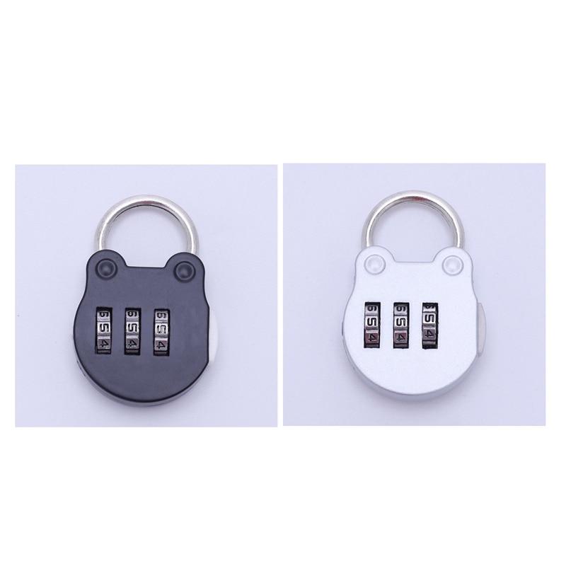 IG-2 Uds combinación maleta equipaje candado Digit Push Password Lock Zinc aleación seguridad Lock maleta Coded Lock Cupbo