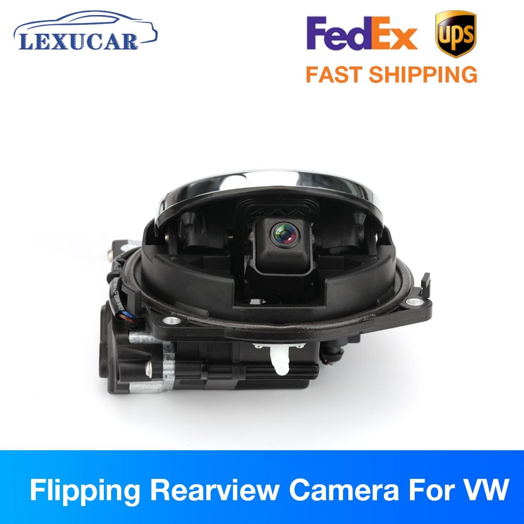 Review Flipping Rearview Camera for VW Badge Passat B8 B6 B7 Golf MK7 MK5 MK6 Polo Reverse Parking HD Camera Trunk Switch Emblem Auto