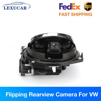 Flipping Rearview Camera for VW Badge Passat B8 B6 B7 Golf MK7 MK5 MK6 Polo Reverse Parking HD Camera Trunk Switch Emblem Auto