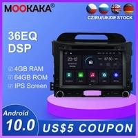 android 10 0 464gb dvd player radio gps navigation for kia sportage er 2010 2016 multimedia player radio stereo headunit dsp