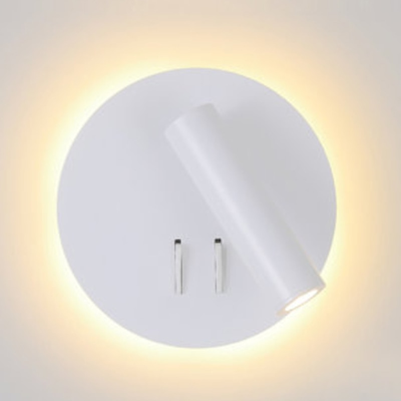 Zerouno führte wand licht nacht lesen buch lampe ac 100-240v cree 3w aluminium schlafzimmer kopfteil lesen nachthimmel 30000 stunden