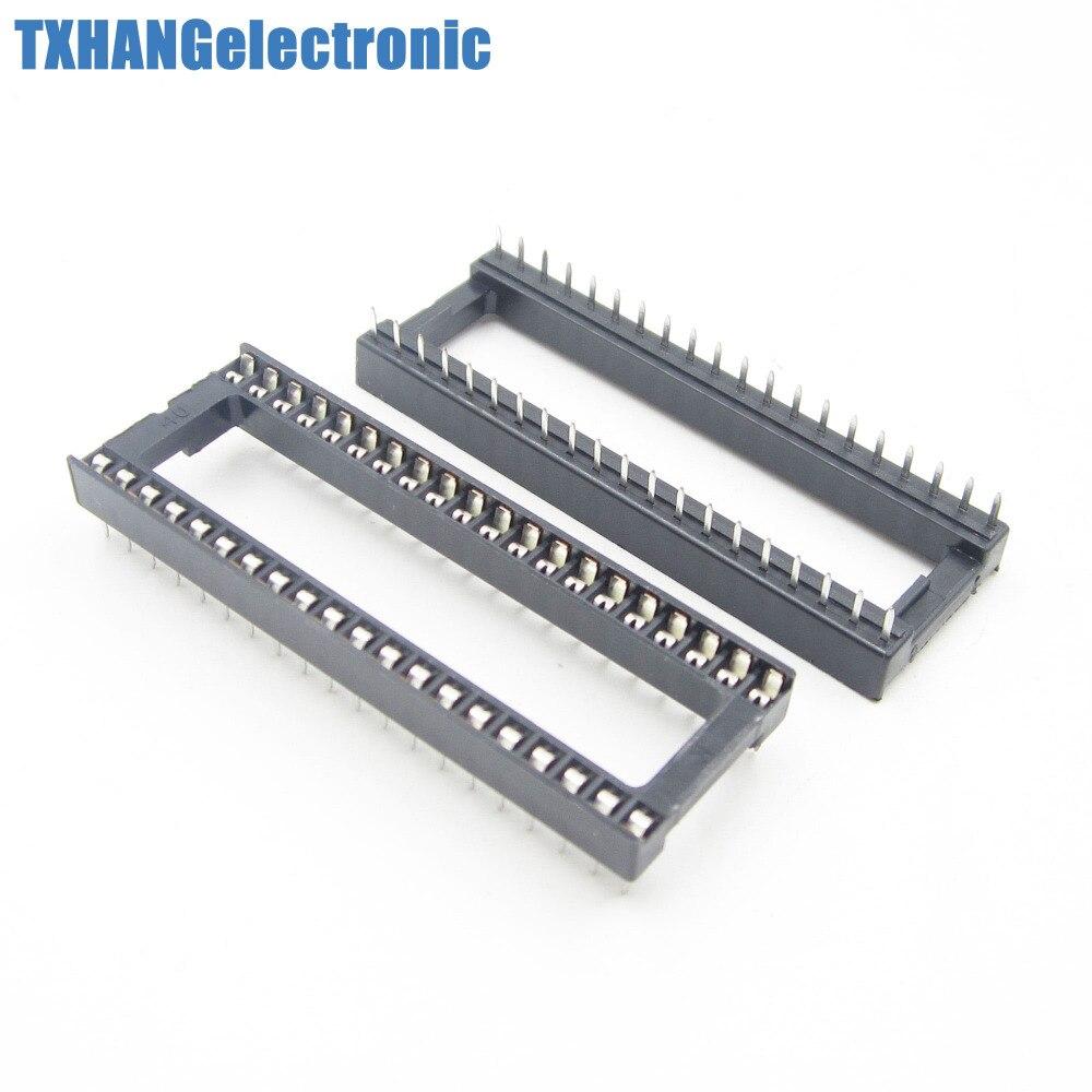 100 PCS 40 pin DIP IC Soquete Adaptador de Solda Tipo de Socket Pitch Dupla Limpe Contato