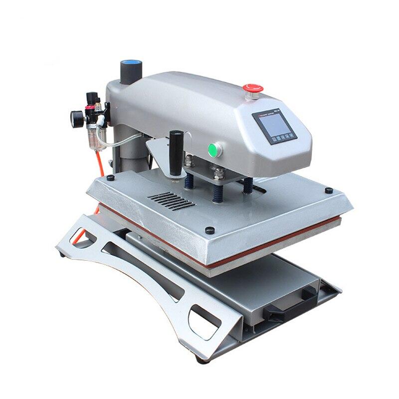 Máquina de agitación extractora de presión de aire neumática, máquina de prensado en caliente con cabezal móvil, máquina de planchado de ropa con Máquina de transferencia de calor