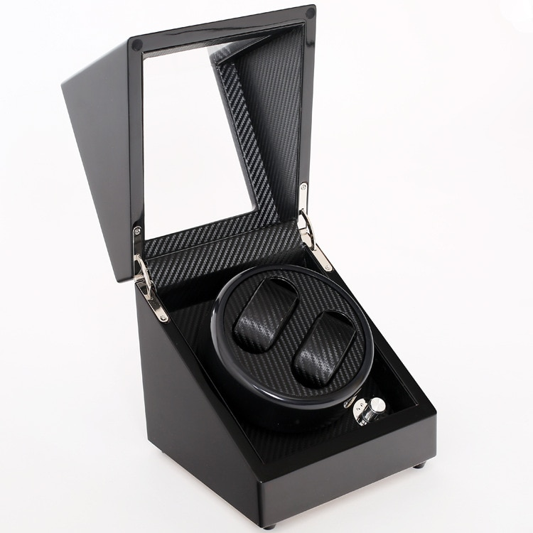 High Quality 4+6 And 2+0 Automatic watch winder carbon fiber slient motor box watches mechanism cases storage display watches enlarge