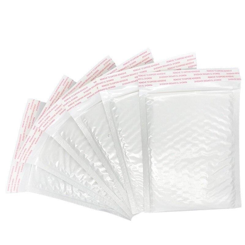 10 PC blanco película de espuma de envío sobre con burbuja diferentes especificaciones de embalaje de bolsa