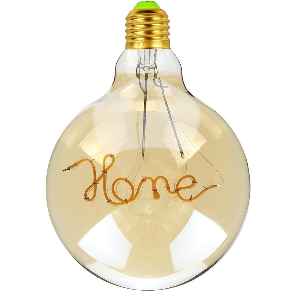 TIANFAN Led Bulb Vintage Light Bulb G125 Big Globe Alphabet Home Led 4W Non Dimmable Pendant Hanging Decorative Bulb 110V 220V