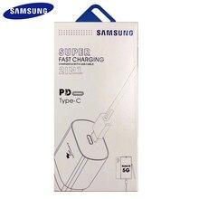 100% Originele Samsung Note 10 Mobilephone Super Fast Charger 25 W Eu Reizen Usb Pd Pss Snel Opladen Adapter EP-TA800 note 10 Plus