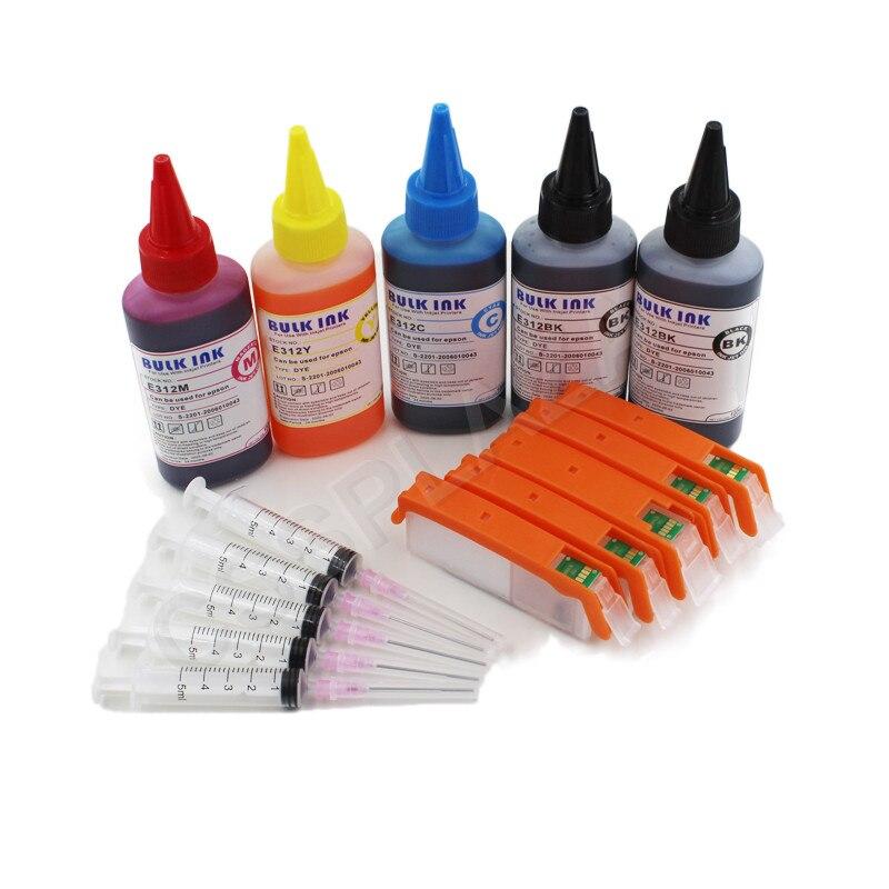 CISSPLAZA 5 ألوان PGI580 CLI581 خرطوشة الحبر القابلة لإعادة الملء متوافقة لكانون TS6151 TS6250 TS9550 TS9551C TS705 طابعة