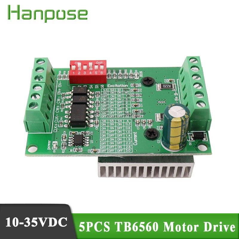 5 pcs tb6560 stepper driver de motor 3.0a segmentos versão atualizada driver para cnc roteador