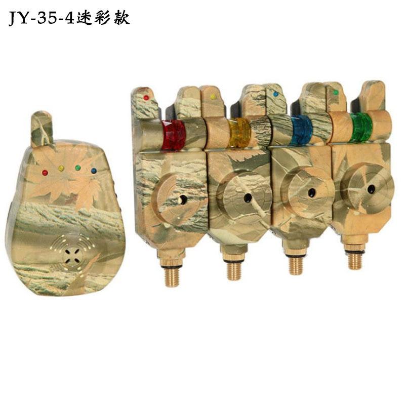 4PCS High Quality 1 Piece Carp Fishing Bite Alarm with Volume Tone Sensitivity Control LED Indicator enlarge