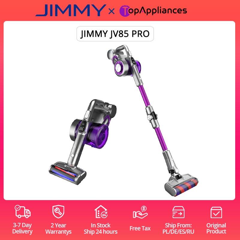 EU/RU Stock JIMMY JV85 Pro Handheld Wireless Vacuum Cleaner 200AW 70Min Use Time LED Screen 70Mins Run Tim Metal Tube can curves