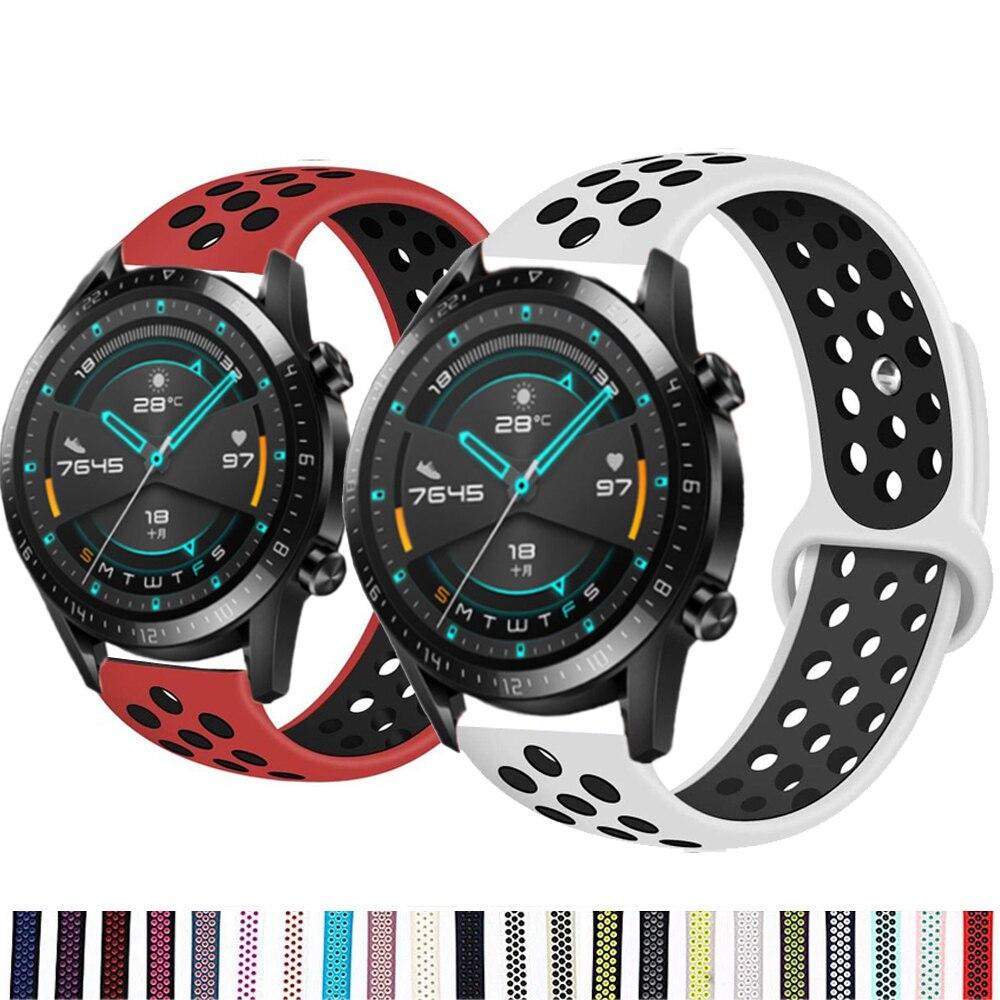 Huawei-Correa de silicona para reloj inteligente, pulsera deportiva de 42mm/46mm, GT2/GT2e de...