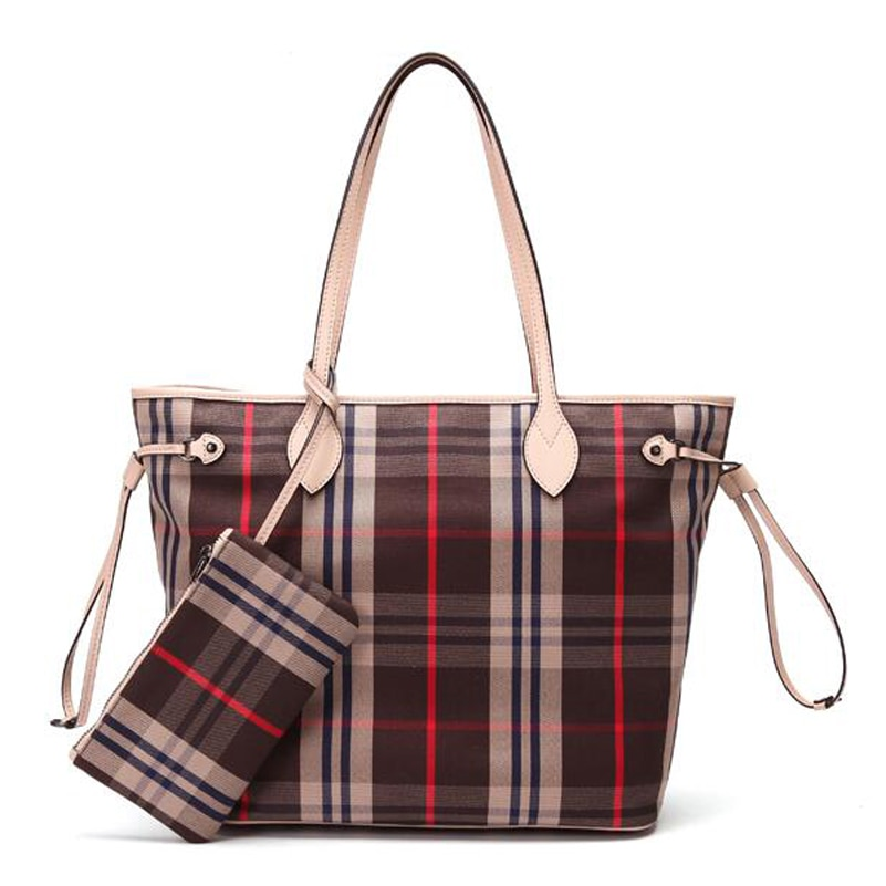 نيفير فول-حقيبة يد نسائية ، حقيبة تسوق ، حقيبة قماشية ، شبكة كورية بسيطة مع محفظة بسحاب