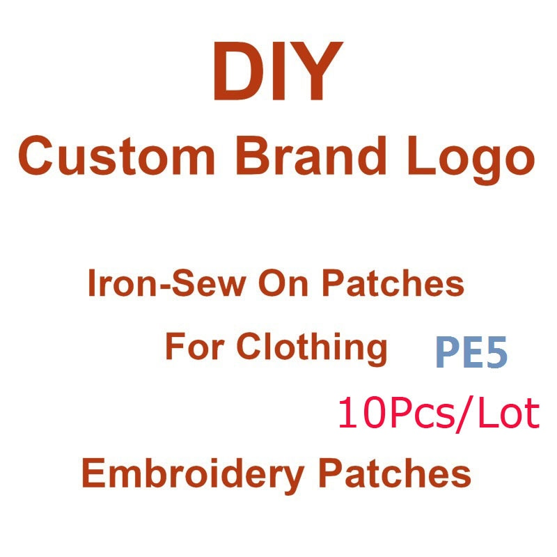 Custom Brand Logo Patches For Clothing Iron On Embroidered Patches Sewing Patches for Backpacks Badge Ironning Thermo Adhesive D