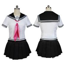 Jeu Danganronpa Ibuki Mioda Cosplay robe Punk école filles marin uniforme Anime Cosplay Costumes costume hauts + jupe perruques
