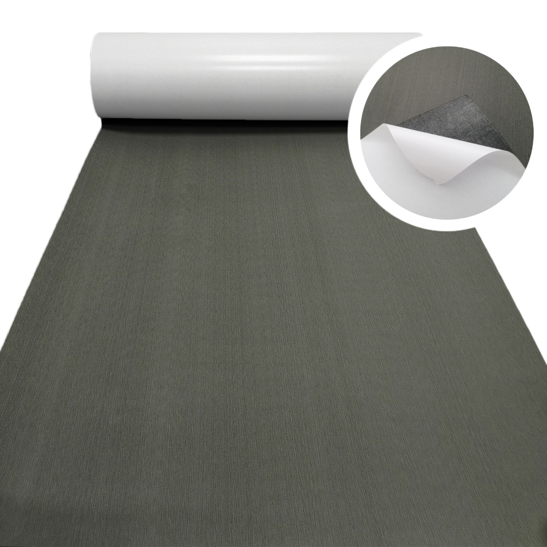 EVA Foam Faux Teak Decking Sheet Dark Gray Yacht Marine Carpet Flooring Mat Non Skid Self Adhesive Sea Deck Boat Accessories