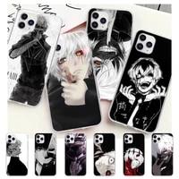 tokyo ghoul kaneki ken transparent mobile phone case for samsung galaxy a51 a71 s20 s10e s8 s7 s9 s10 plus clear cover