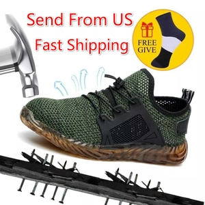 Indestructible Work Shoes Men And Women Steel Toe Air Safety Shoes Puncture-Proof Work Sneakers Breathable Shoes