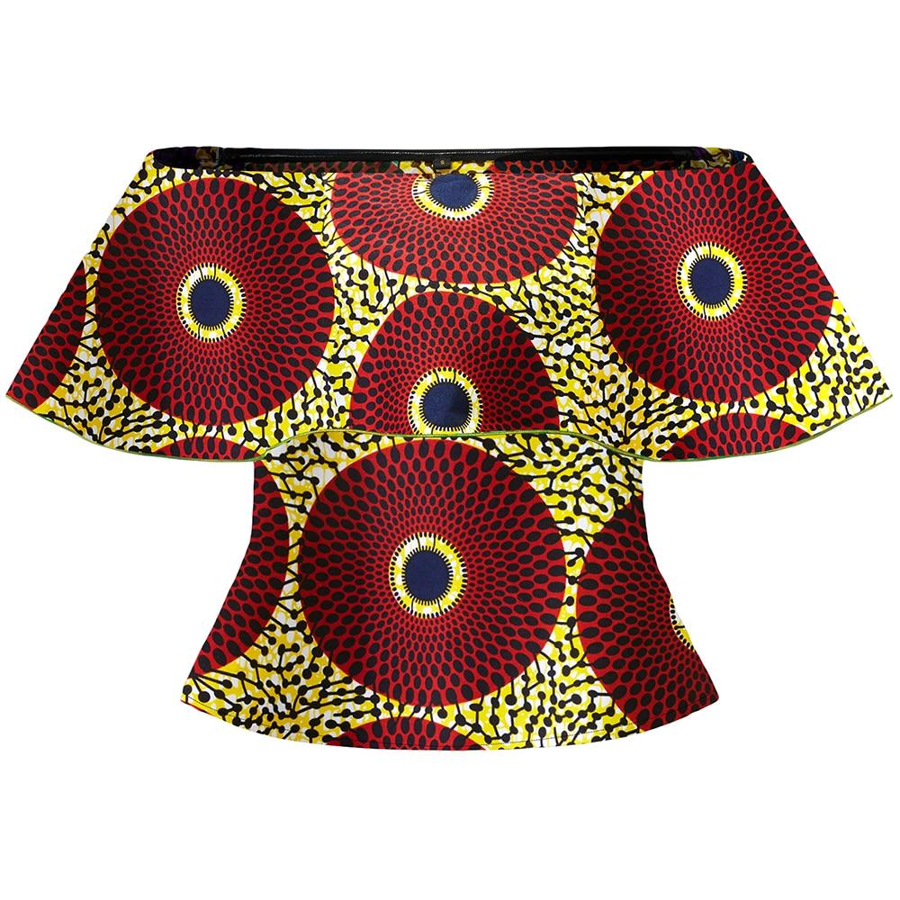Africano vestir para Mulheres moda top roupa tradicional africano ancara impressão das mulheres um ombro top camisa top roupas de férias