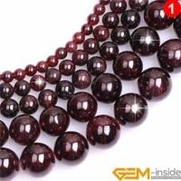 natural gems stone dark red garnet round beads for jewelry making strand 15 diy bracelet necklace 6mmm 8mm 10mm