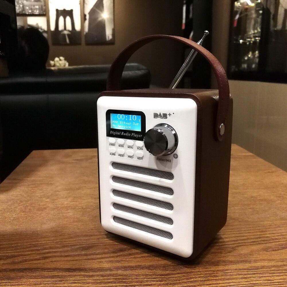 DAB Audio FM RECEPTOR MP3 madera manos libres estéreo pantalla LCD portátil recargable reproductor USB Retro Bluetooth Radio Digital