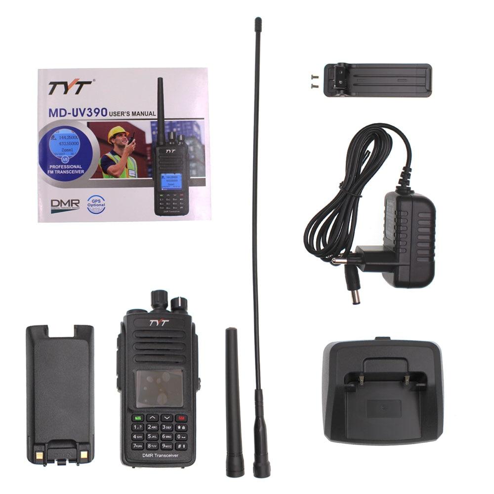 DMR Digital Walkie Talkie UV390 IP67 Waterproof Dual Band UV transceiver GPS Optional Upgrde of MD-390 + USB cable enlarge