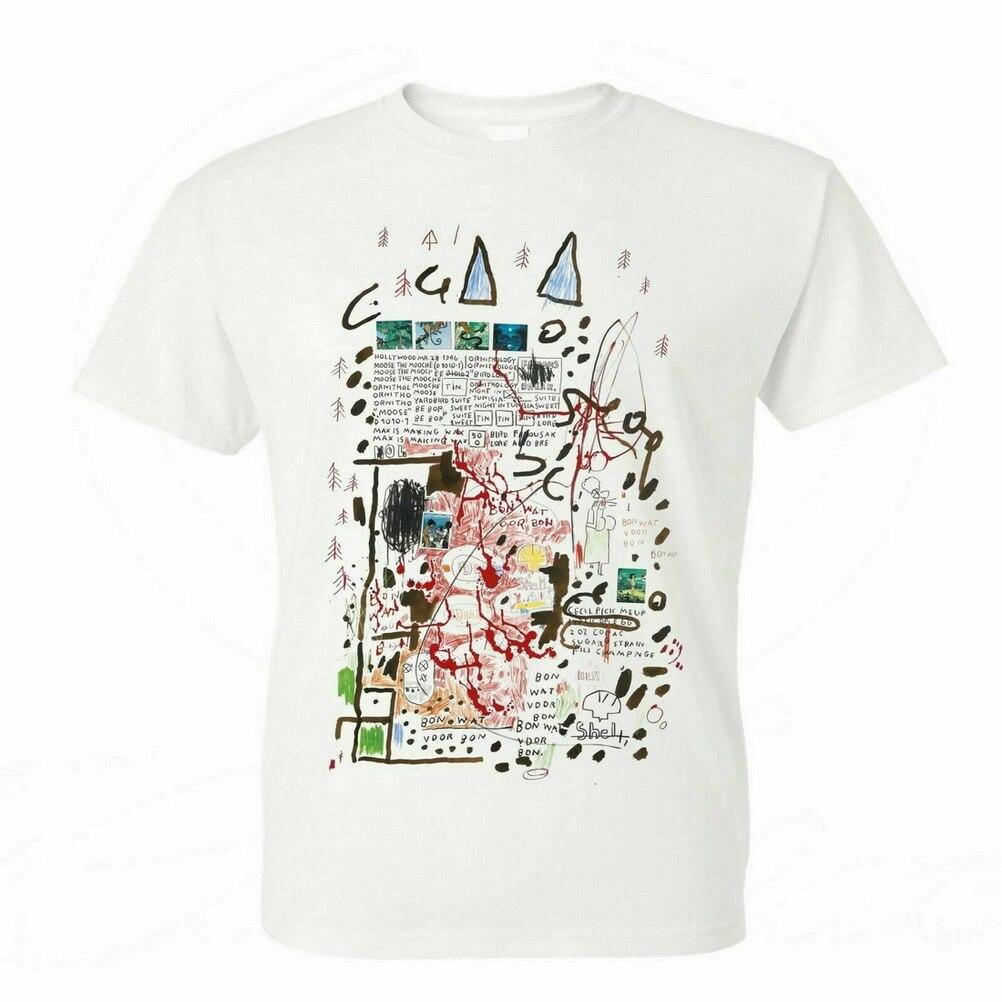 Camiseta blanca de artista de Graffiti Via Avtavr de JEAN Michel Basquiat Untitled 1998 Estilo libre