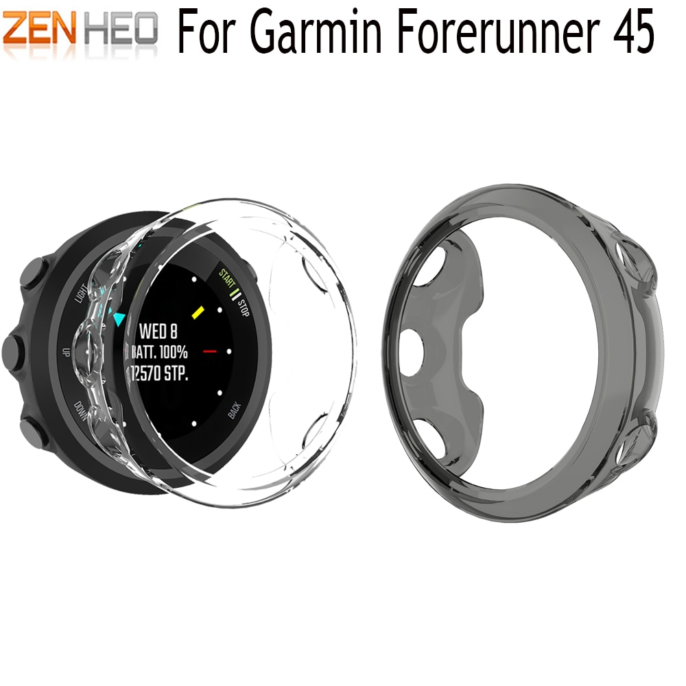 Cubierta protectora de silicona de TPU para Garmin forerunner 45 Smart watch Band Shell funda para Garmin forerunner 45 fundas de reloj