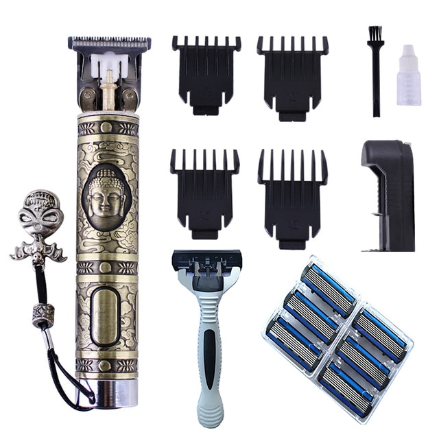 USB Professional hair trimmer beard electric hair clipper barber hair cutting machine edge outlines finishing rechargeable kits