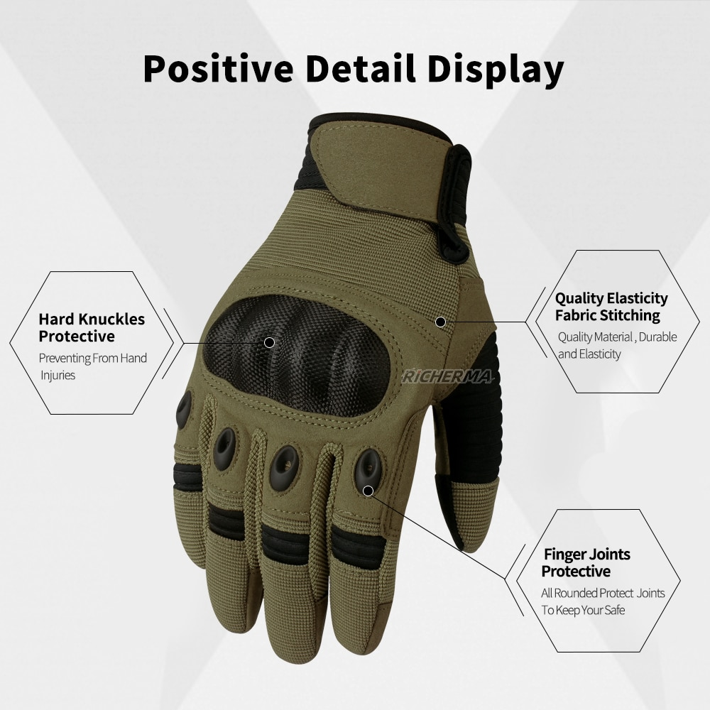 Hand Protective Motorcycle Gloves Men Phone Touchscreen Motocross Gloves Military Shooting Workout Tactical Army Gloves Women enlarge