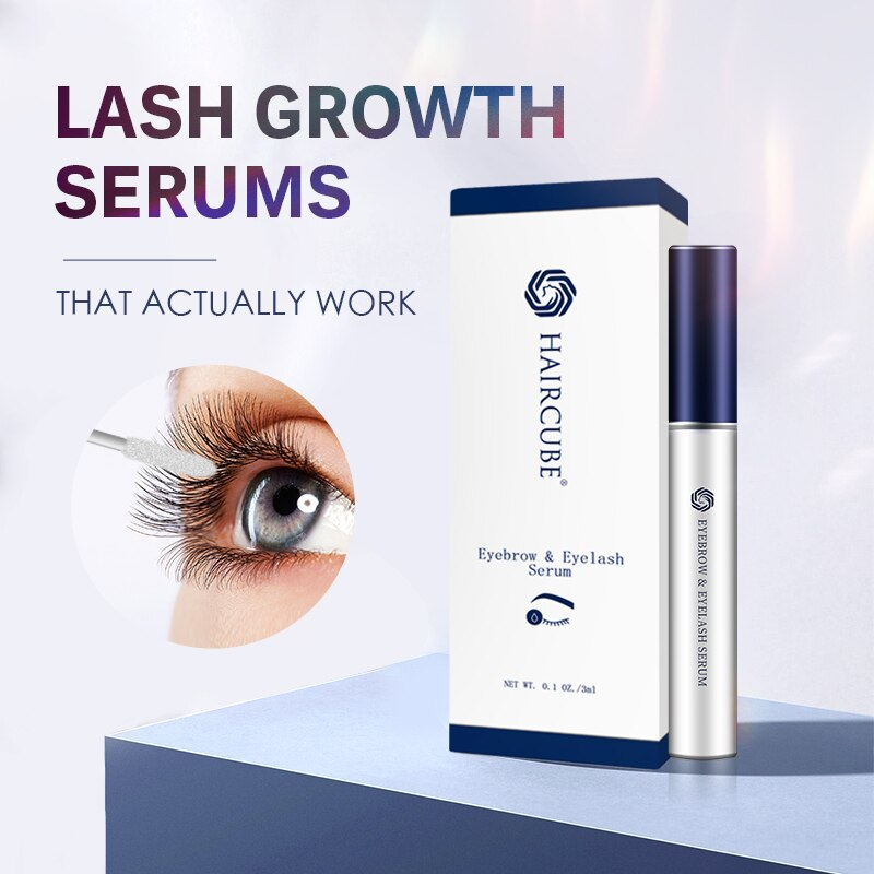 HAIRCUBE Eyelash Growth Treatment Natural Eyebrow Eyelashes Essential Liquid Longer Thicker Makeup Eyelash Enhancer Cruelty Free