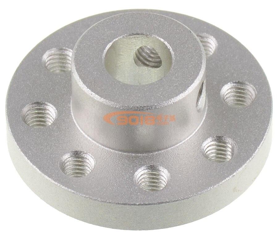 De aluminio de precisión acoples con brida bobina rotatoria acoplamientos Centro agujero diámetro interior 8MM tolerancia negativa