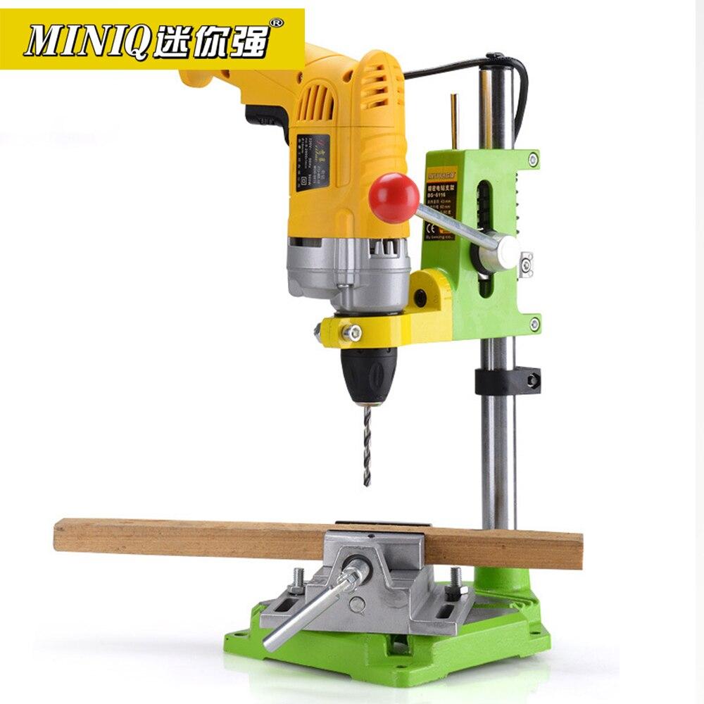 Soporte de taladro eléctrico de precisión MINIQ BG6116, herramientas eléctricas rotativas, Accesorios para Banco, soporte de prensa, herramientas de carpintería