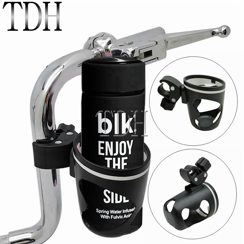 Soporte Universal para taza de motocicleta, soporte para silla de ruedas para bicicleta, soporte para bebidas, botella de soporte de montaje con Clip para café y agua, soporte para jaula para carrito de bebé