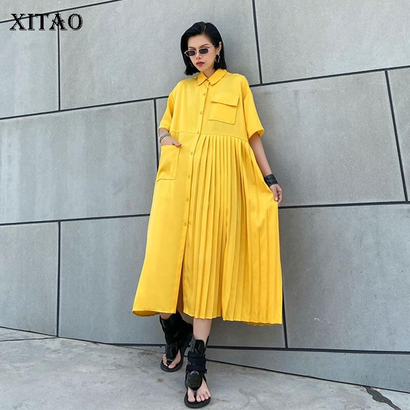 AliExpress - XITAO Plus Size Dress Fashion New Women Pocket Plus Size Vintage Single Breast Goddess Fan Minority Style Loose Dress DMY4747