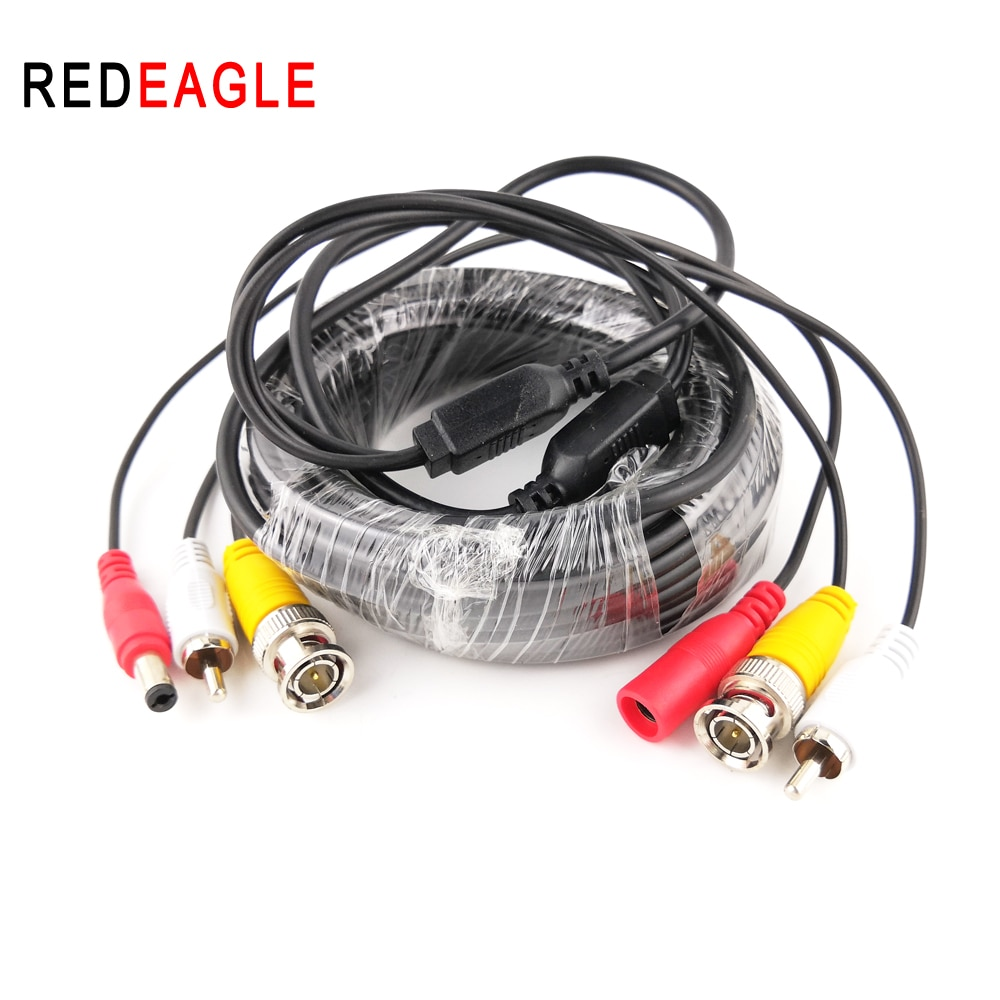 aviation cable 10m 15m 20m 4pin aviation extension connector video audio cable four core video premium cable for cctv camera dvr REDEAGLE 5M 10M 20M Security CCTV Cable BNC RCA CCTV Camera Video Audio AV Power Cable For AHD Surveillance Camera DVR System