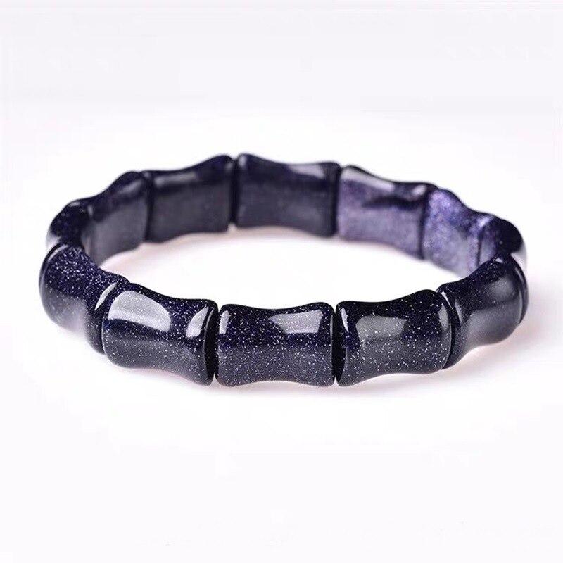 Pulseras de mujer Natural azul arena dianthos mano fila Bling pulsera mujer Jade pulsera regalo para mujer joyería de Jade fina