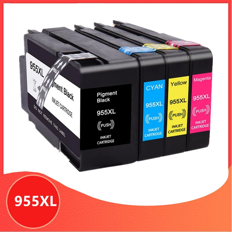 Compatible con 955 XL 955XL cartucho de tinta para HP OfficeJet 955 Pro 7720, 7740, 8710, 8715, 8720, 8730, 8740, 8210, 8216, 8725 impresora