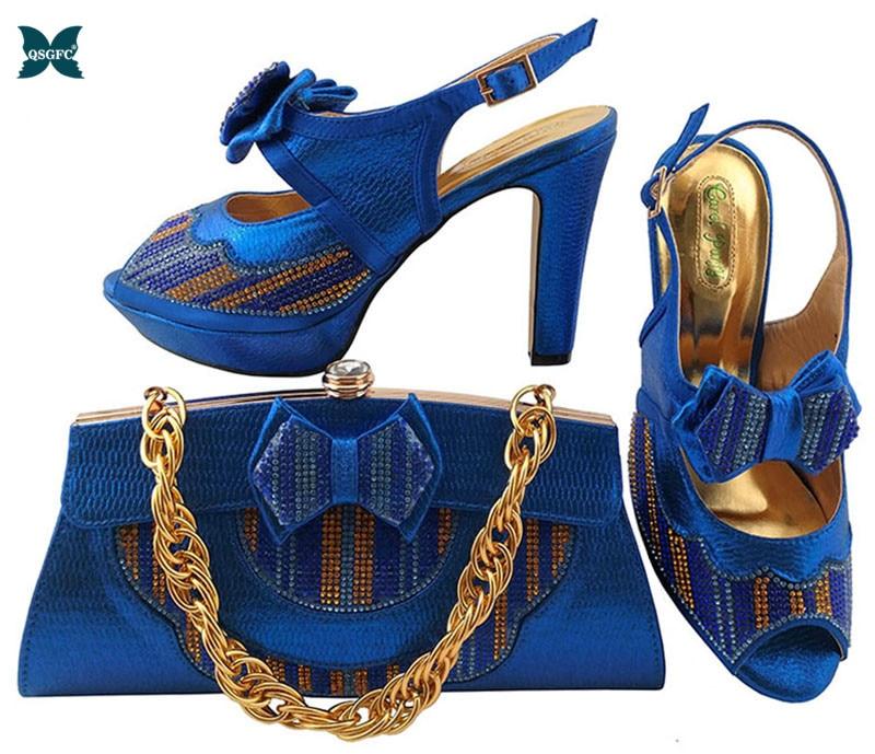 ¡Zapato italiano y bolso! África zapato y bolsa de tacón alto diseño italiano zapato con bolsa a juego mejor venta juego damas zapato
