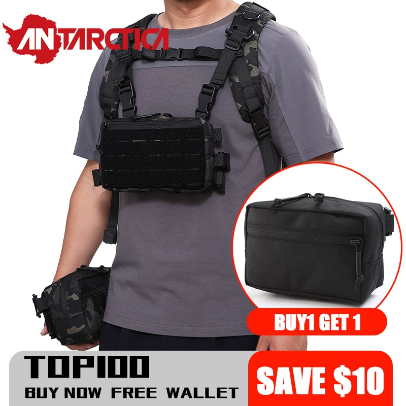 1000D Nylon Molle Webbing Chest Bag Sport EDC Packets Men Military Waterproof RestopTactical Backpac