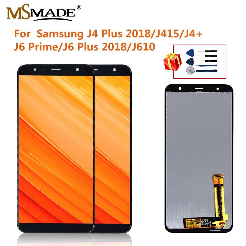 para samsung galaxy j6 plus j6 j610 j610f j610fn display lcd de toque digitador da