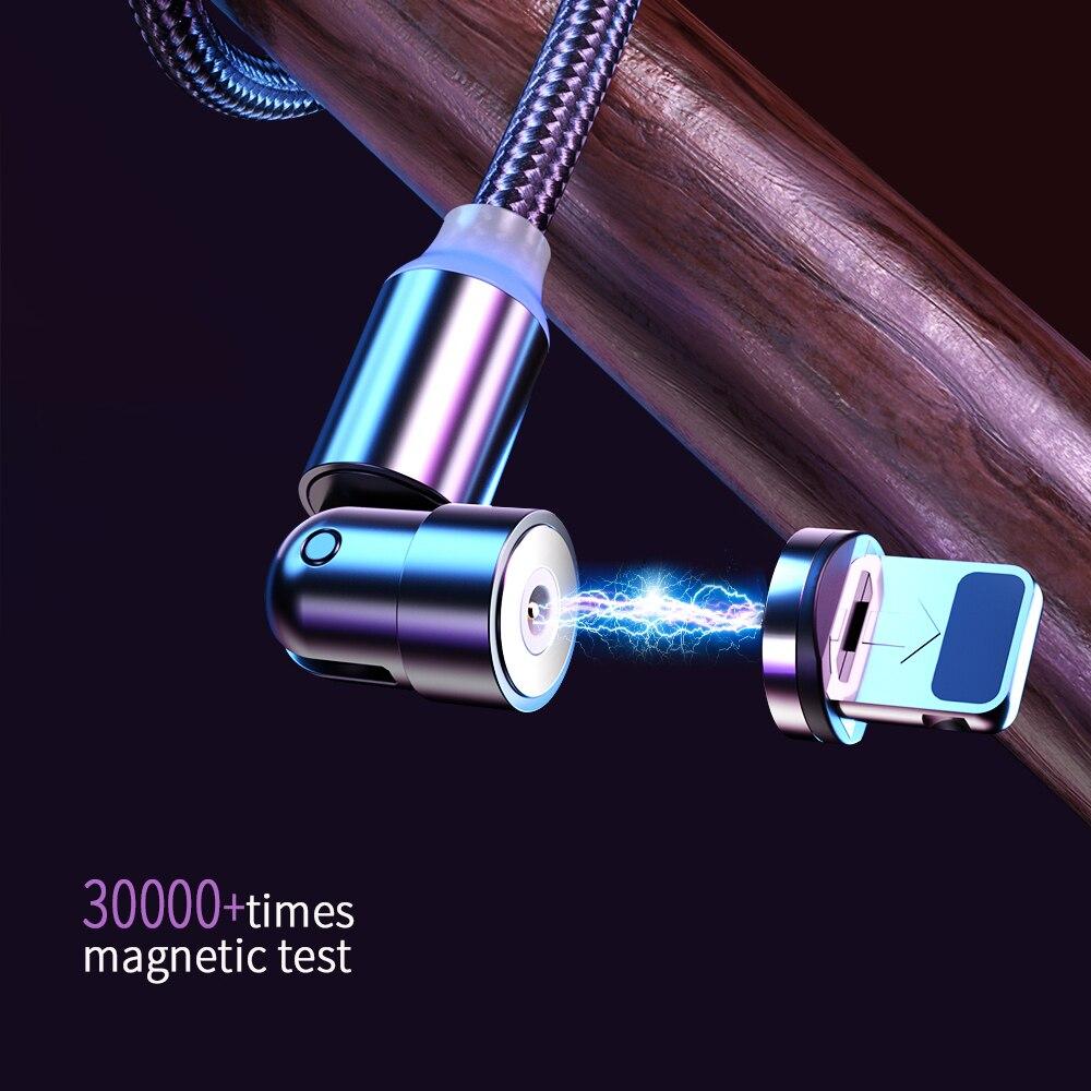 Cable magnético de carga rápida para móvil, Cable Micro USB tipo C...