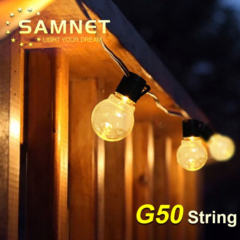 diodo emissor de luz g50 lampada redonda corda luz solar a prova dwaterproof agua