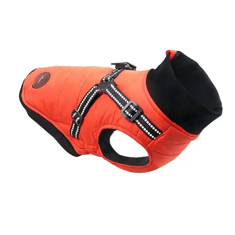 Ropa de invierno para perros Cálido impermeable Chaleco con arnés abrigo pequeño mediano perros Peluche de caniche oso cachorros mascotas chaleco acolchado