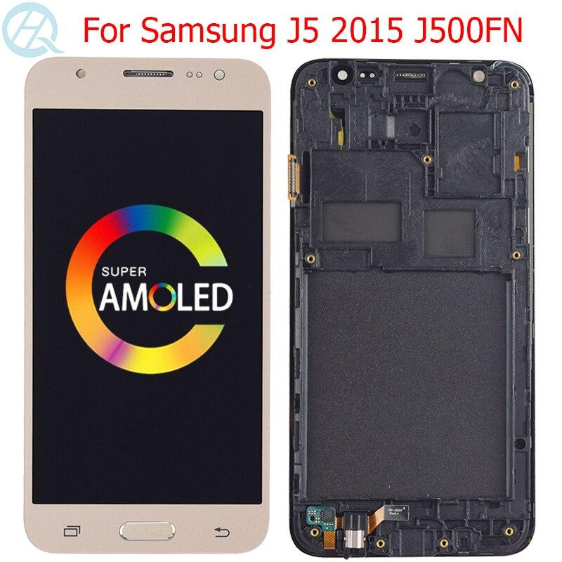 "Original j500fn amoled para samsung galaxy j5 2015 lcd com quadro 5.0 ""SM-J500F j500g j500m j500h j500fn exibição montagem da tela"