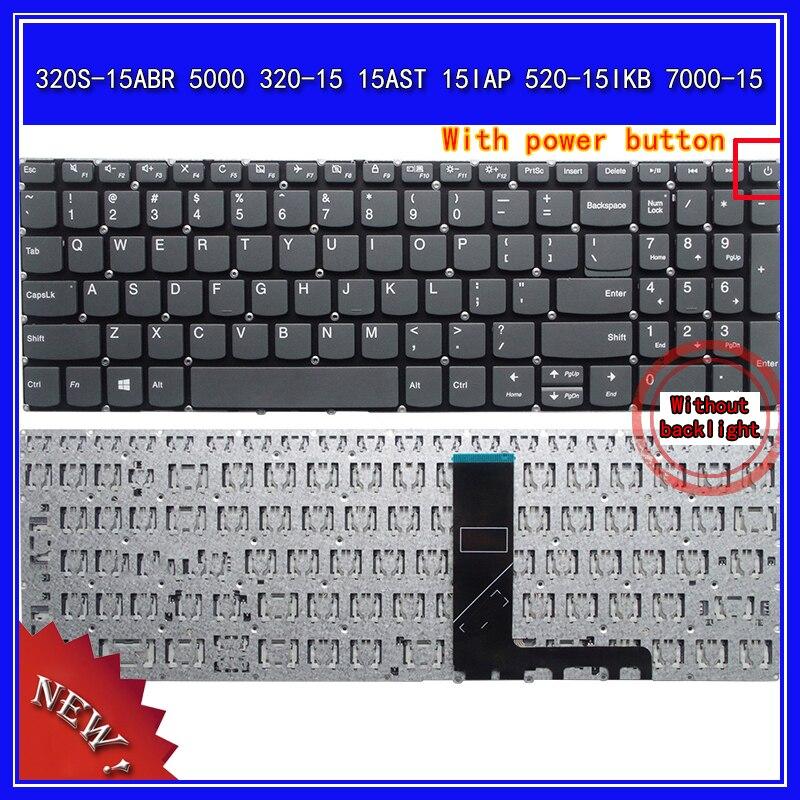 لوحة مفاتيح الكمبيوتر المحمول لينوفو 320S-15ABR 5000 320-15 15AST 15IAP 520-15IKB 7000-15 الكمبيوتر المحمول استبدال لوحة المفاتيح الولايات المتحدة