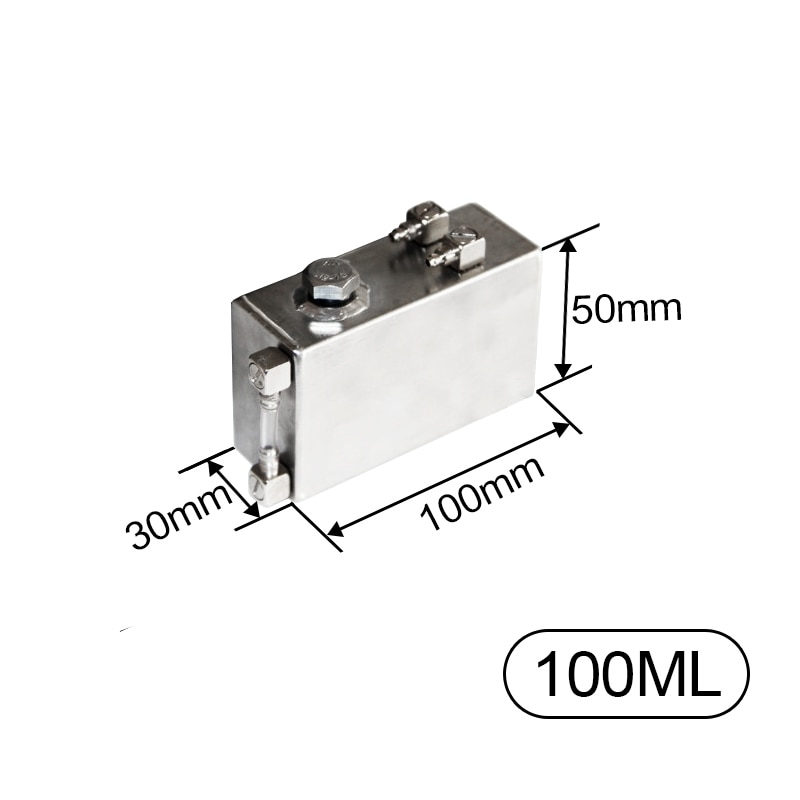 100ml Small Stainless Steel Fuel Tank with oil quantity display For Gasoline Engine DIY RC Boat Tank Car Parts dtrc g26b 26cc gasoline spider catamaran rc boat with 26cc engine