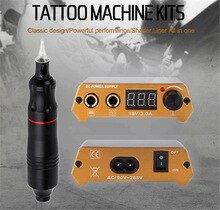 Biomaser, Kits profesionales de tatuaje, pistola giratoria para ajustar el tatuaje, suministro de energía, máquina de tatuaje, juego de Mini suministros de equipos de energía LCD